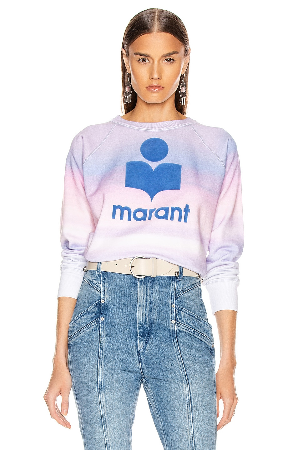 Image 1 of Isabel Marant Etoile Milly Sweatshirt in Blue & Pink