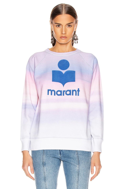 Image 2 of Isabel Marant Etoile Milly Sweatshirt in Blue & Pink