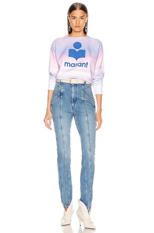 Image 5 of Isabel Marant Etoile Milly Sweatshirt in Blue & Pink
