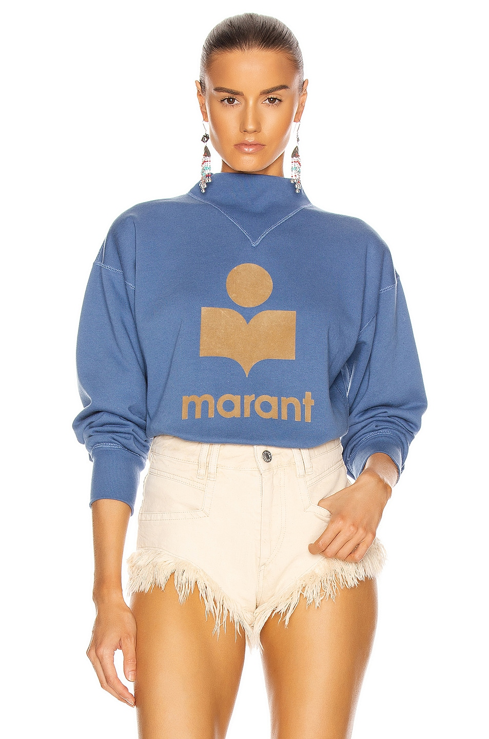 Image 1 of Isabel Marant Etoile Moby Sweatshirt in Blue