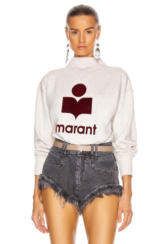 Image 1 of Isabel Marant Etoile Moby Sweatshirt in Ecru