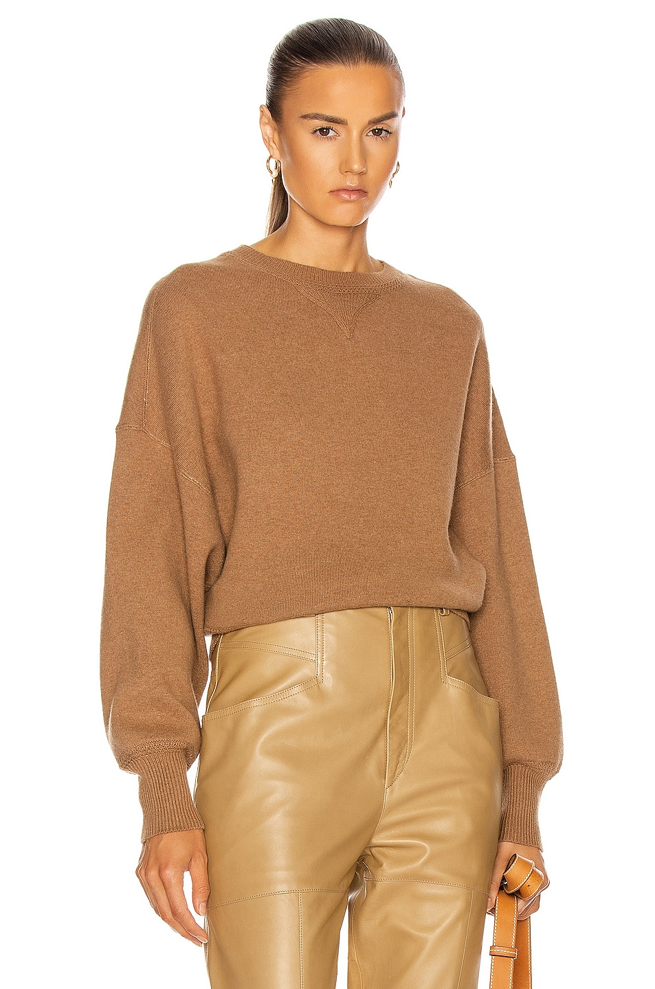 Image 1 of Isabel Marant Etoile Lucia Sweater in Camel