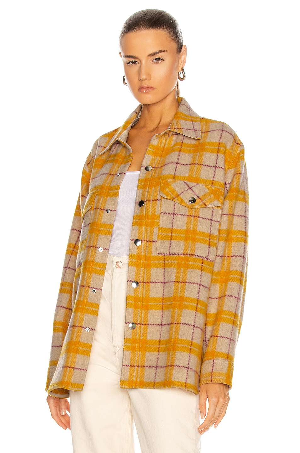 Image 1 of Isabel Marant Etoile Faxonli Jacket in Yellow