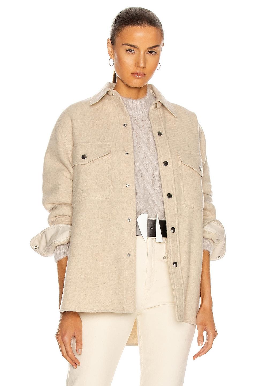 Image 1 of Isabel Marant Etoile Faxon Jacket in Ecru