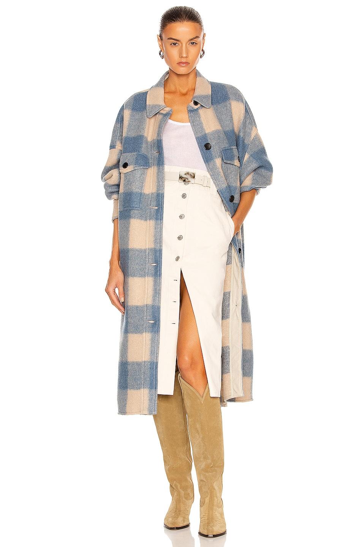 Image 1 of Isabel Marant Etoile Fontizi Coat in Blue