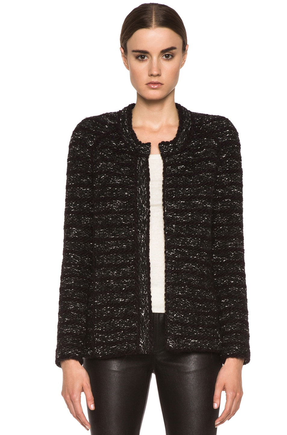 Image 1 of Isabel Marant Etoile Iona Cowens Knit Jacket in Anthracite
