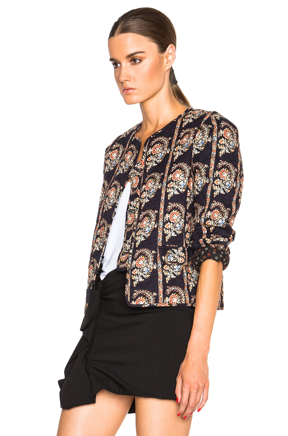 Image 3 of Isabel Marant Etoile Elmer Quilted Jacket in Black
