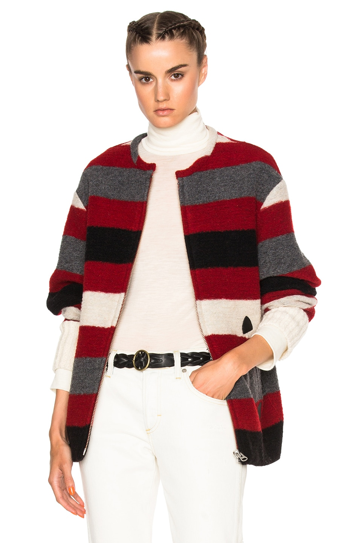Image 1 of Isabel Marant Etoile Fimo Blanket Coat in Red