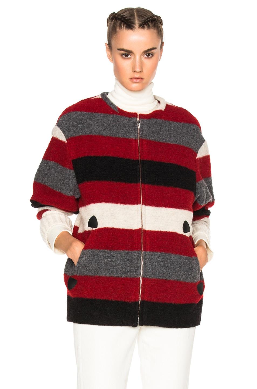 Image 2 of Isabel Marant Etoile Fimo Blanket Coat in Red
