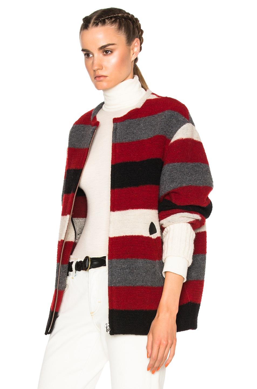 Image 3 of Isabel Marant Etoile Fimo Blanket Coat in Red