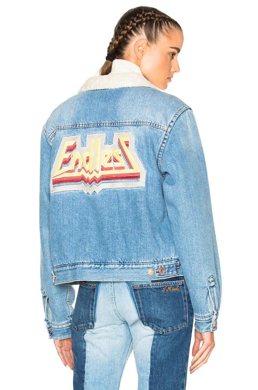 Image 1 of Isabel Marant Etoile Camden Denim Jacket in Light Blue