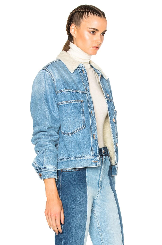 Image 4 of Isabel Marant Etoile Camden Denim Jacket in Medium Blue