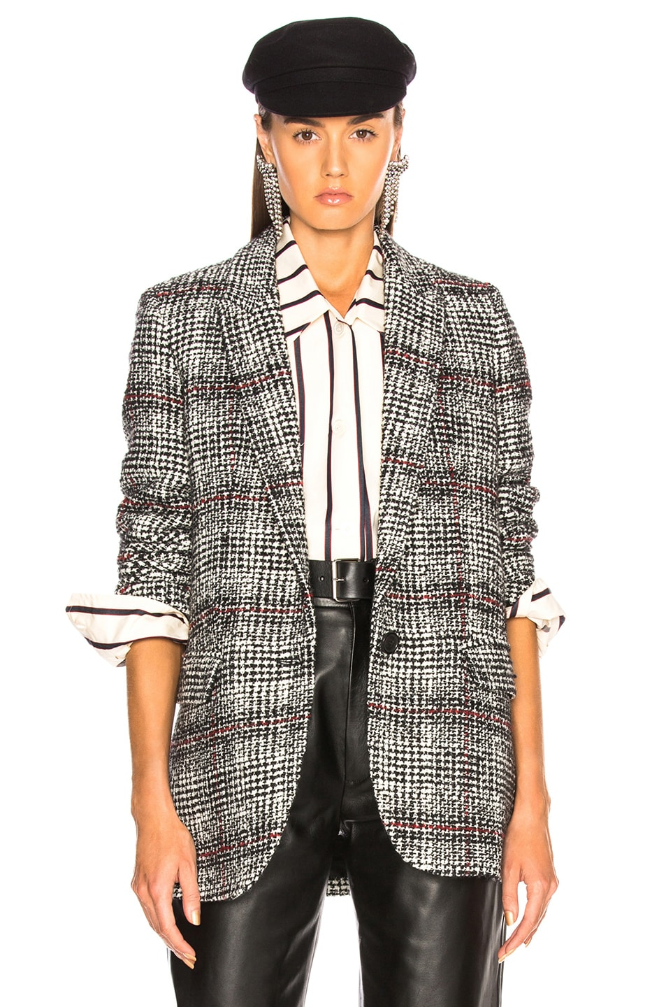 Image 1 of Isabel Marant Etoile Ice Jacket in Black & Ecru