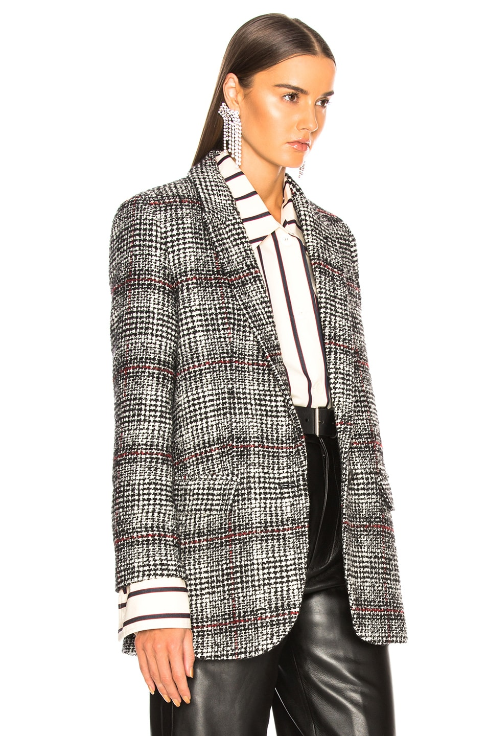 Image 3 of Isabel Marant Etoile Ice Jacket in Black & Ecru