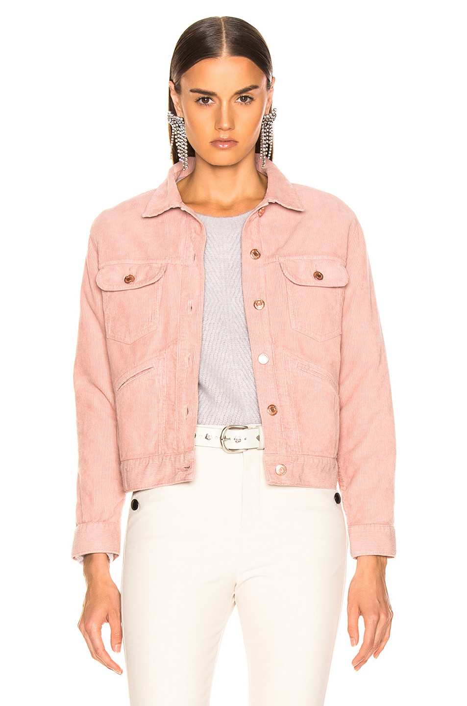 Image 1 of Isabel Marant Etoile Foftya Corduroy Jacket in Light Pink