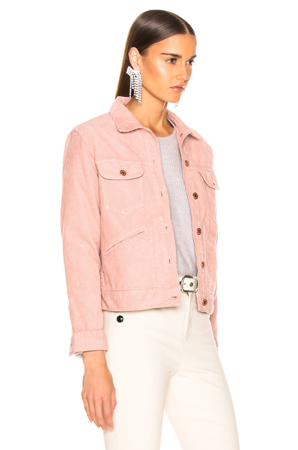 Image 2 of Isabel Marant Etoile Foftya Corduroy Jacket in Light Pink
