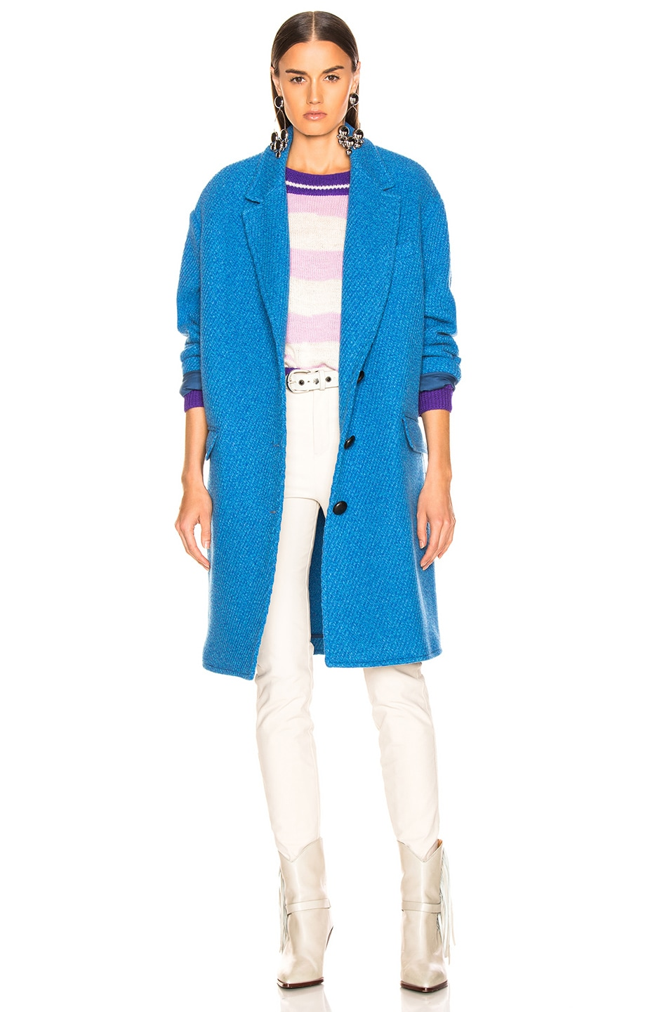 Image 1 of Isabel Marant Etoile Gimi Coat in Blue