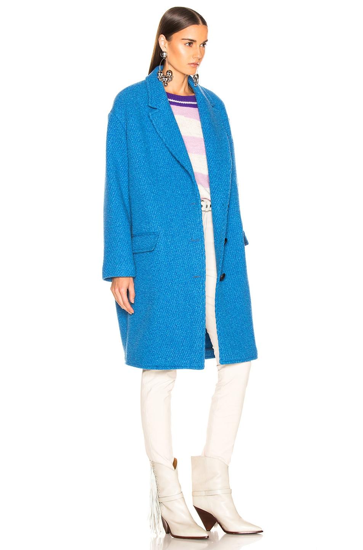 Image 3 of Isabel Marant Etoile Gimi Coat in Blue