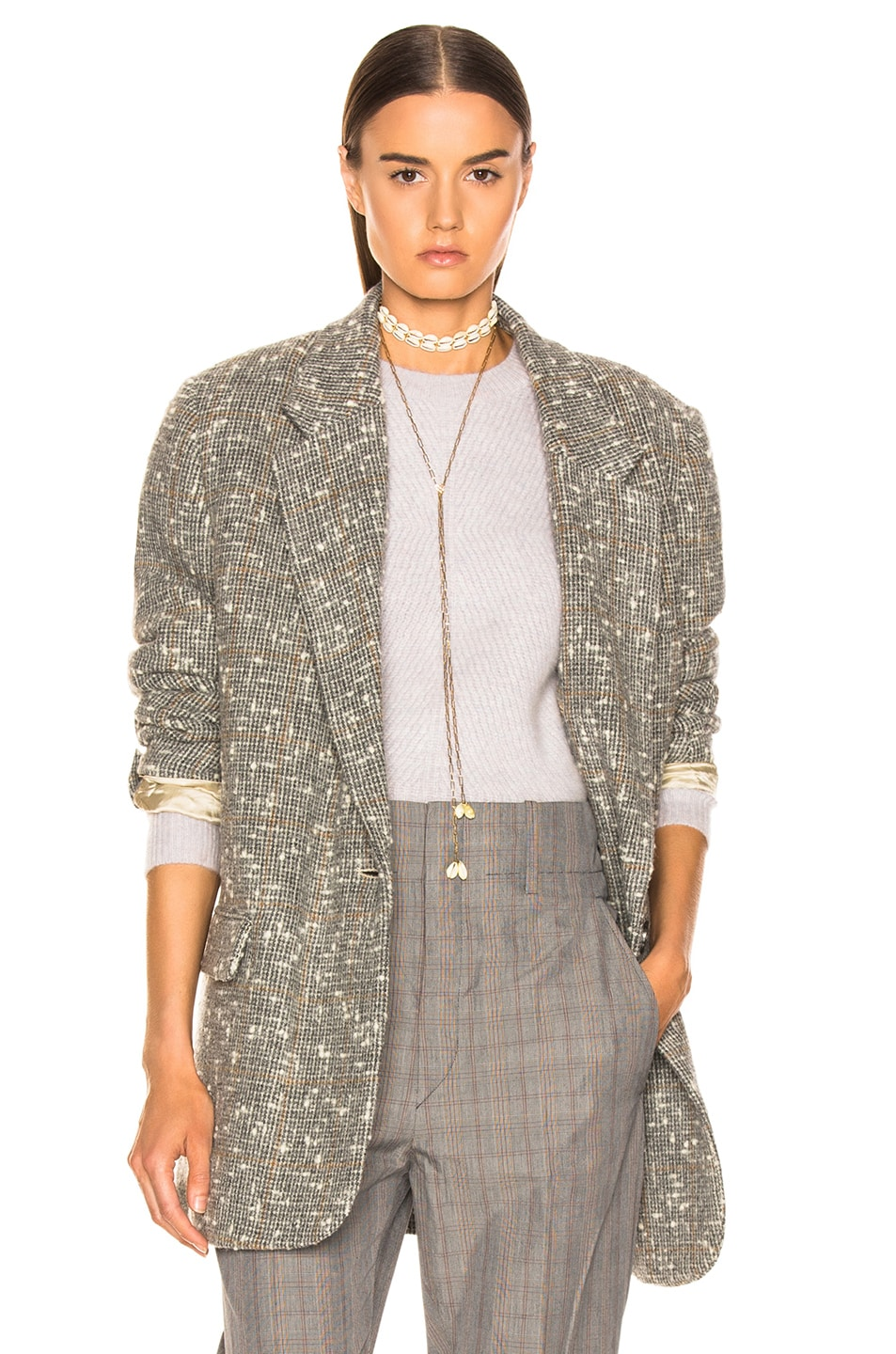 Image 1 of Isabel Marant Etoile Orix Blazer in Grey