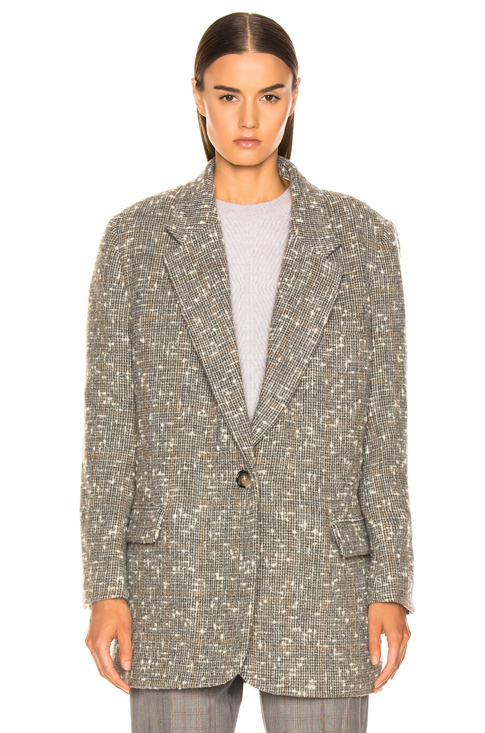 Image 2 of Isabel Marant Etoile Orix Blazer in Grey