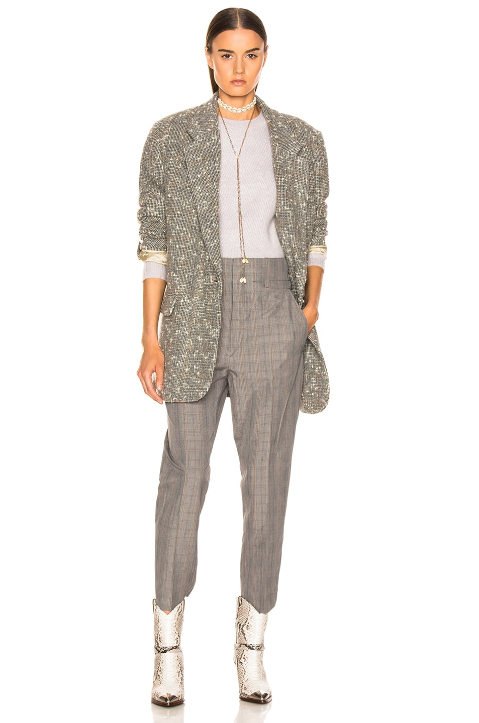 Image 5 of Isabel Marant Etoile Orix Blazer in Grey