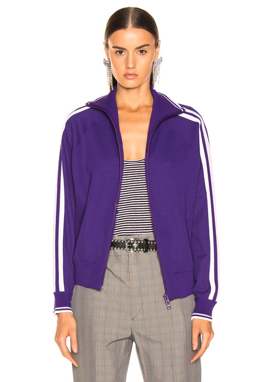 Image 2 of Isabel Marant Etoile Darcey Knit Jacket in Purple