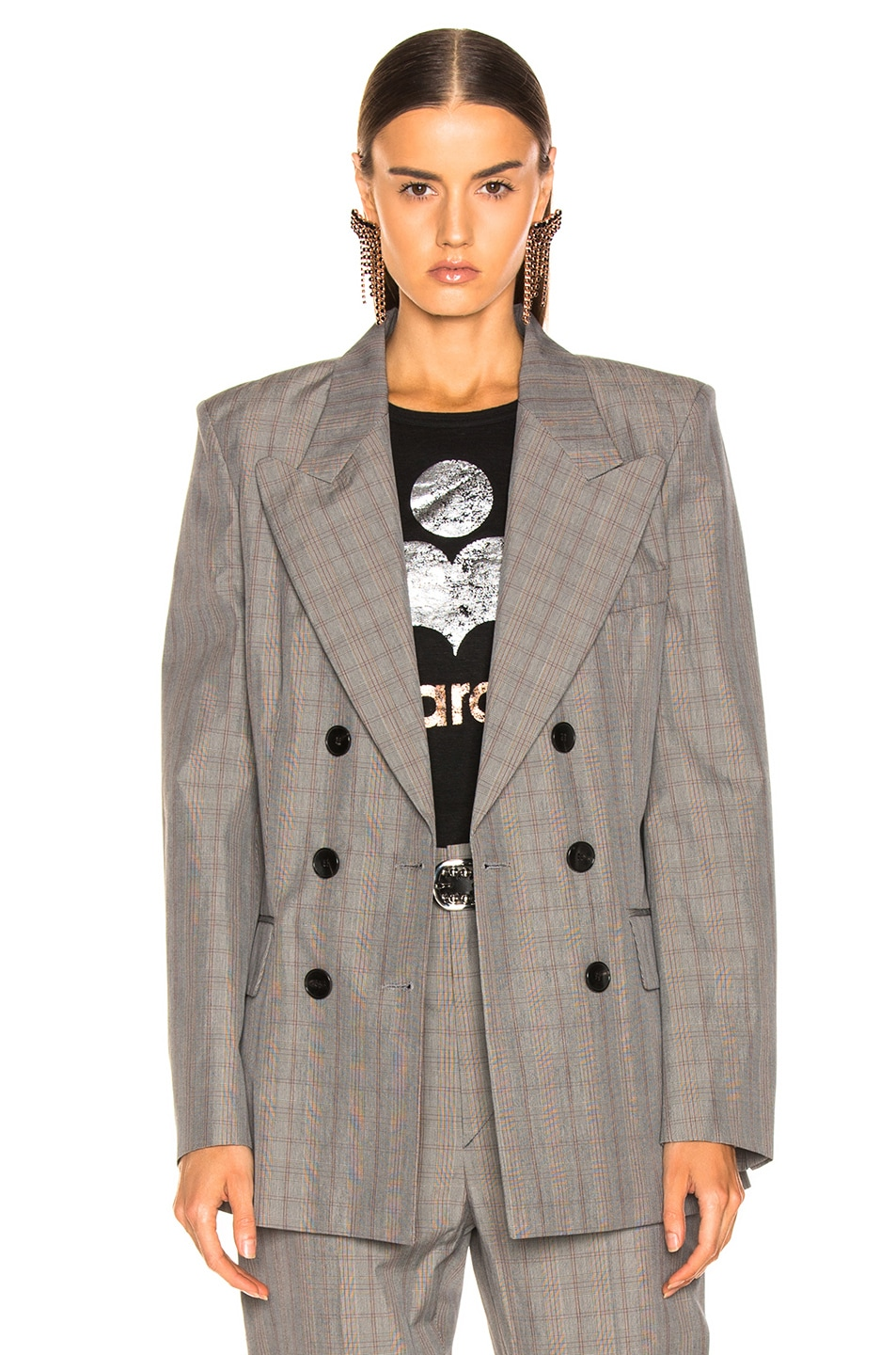 Image 2 of Isabel Marant Etoile Iliane Blazer in Grey