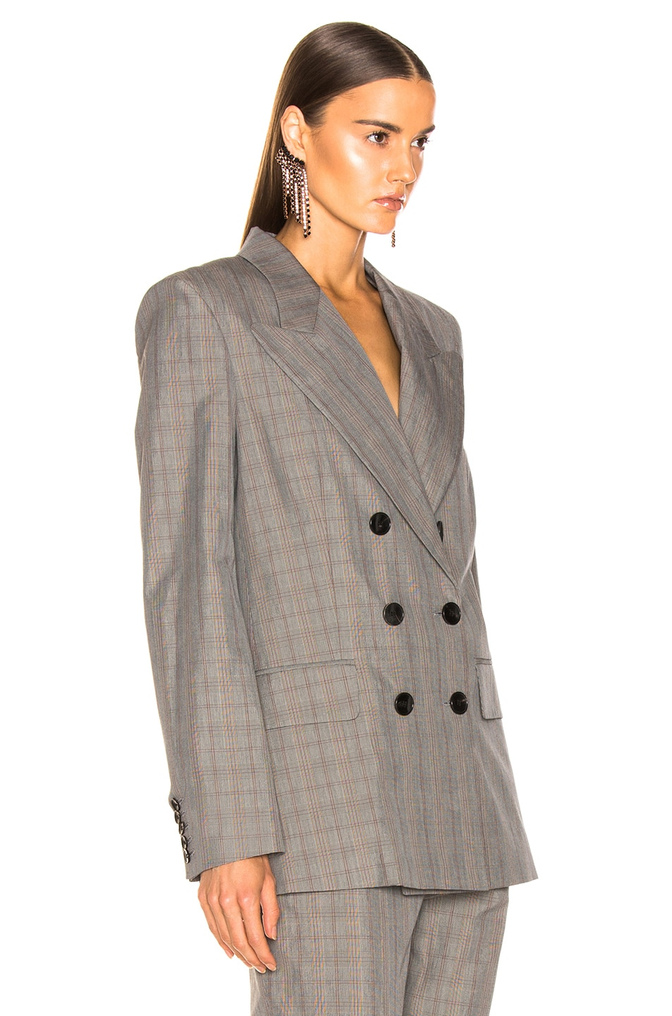 Image 3 of Isabel Marant Etoile Iliane Blazer in Grey