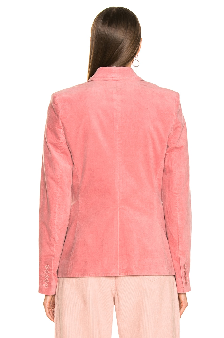 Image 4 of Isabel Marant Etoile Alsey Velvet Blazer in Light Pink
