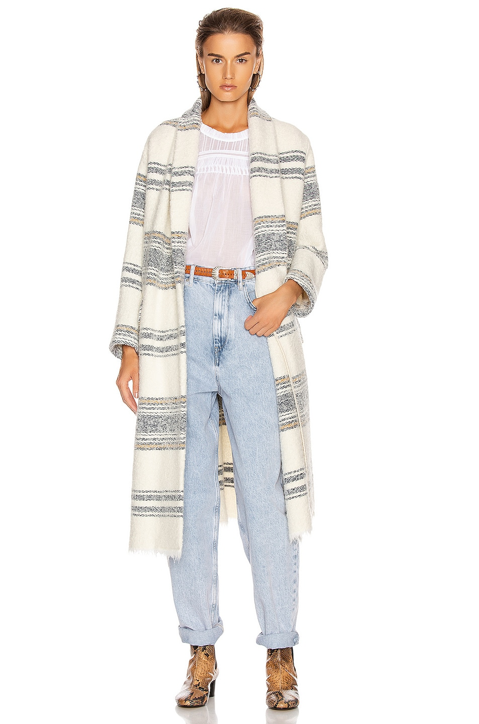 Image 1 of Isabel Marant Etoile Faby Coat in Ecru