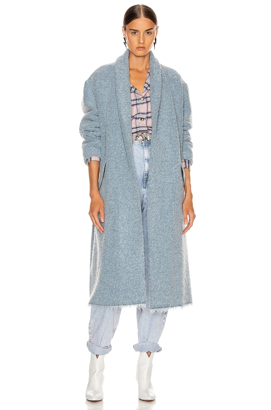 Image 1 of Isabel Marant Etoile Faby Coat in Blue