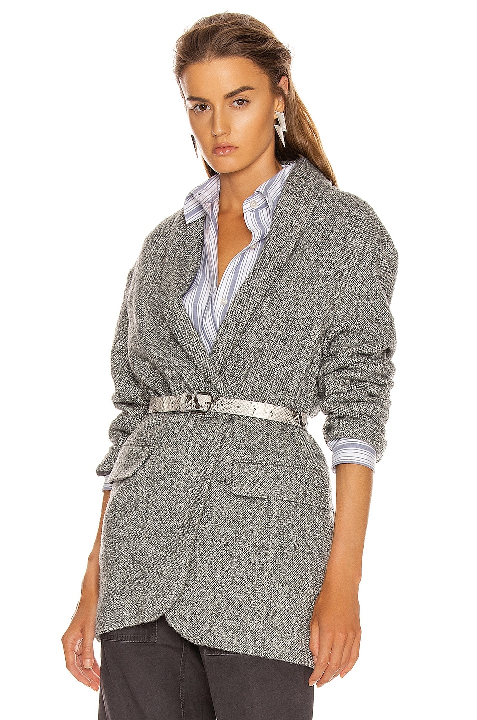 Image 1 of Isabel Marant Etoile Backal Blazer in Grey