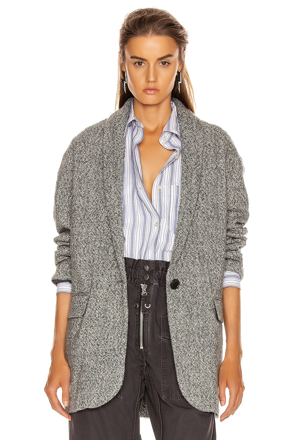 Image 2 of Isabel Marant Etoile Backal Blazer in Grey