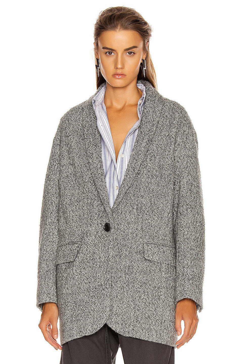 Image 3 of Isabel Marant Etoile Backal Blazer in Grey