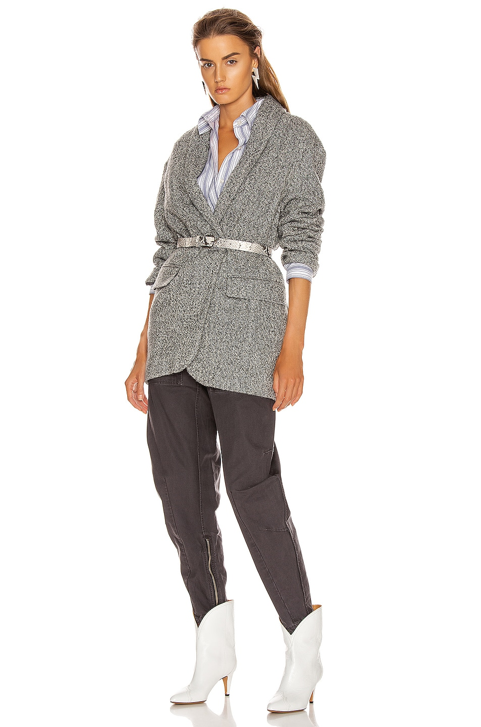 Image 6 of Isabel Marant Etoile Backal Blazer in Grey