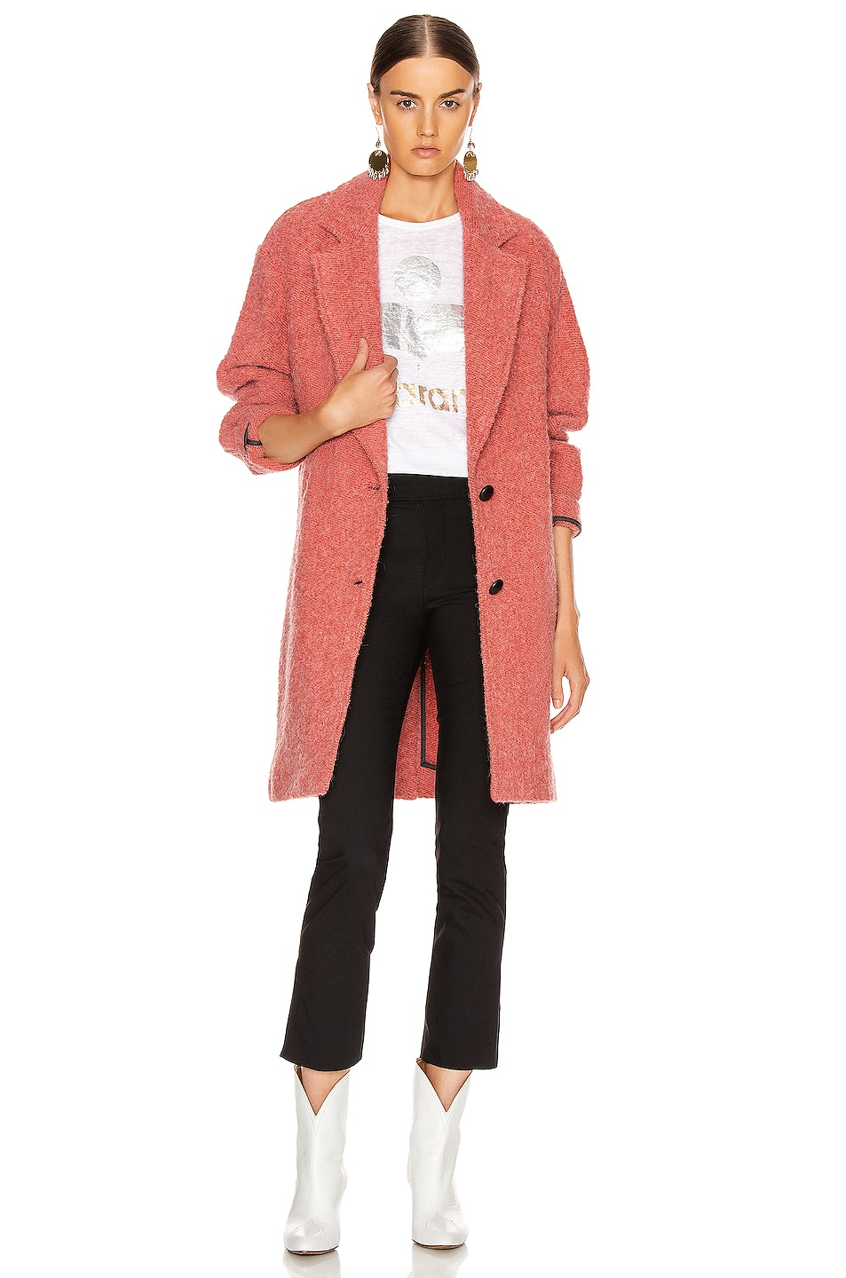 Image 1 of Isabel Marant Etoile Dante Coat in Pink