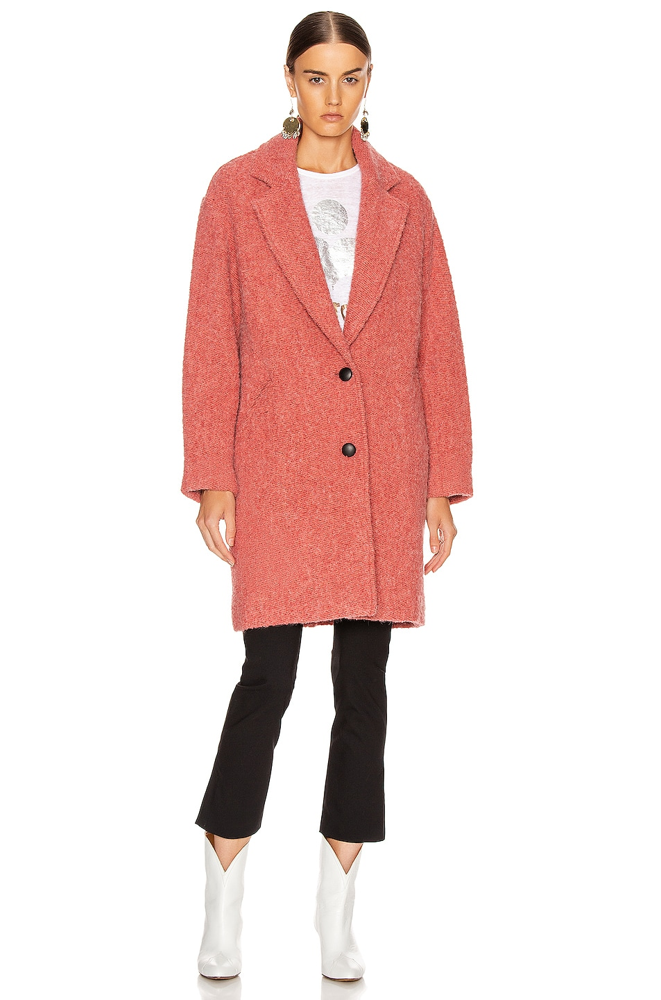 Image 2 of Isabel Marant Etoile Dante Coat in Pink