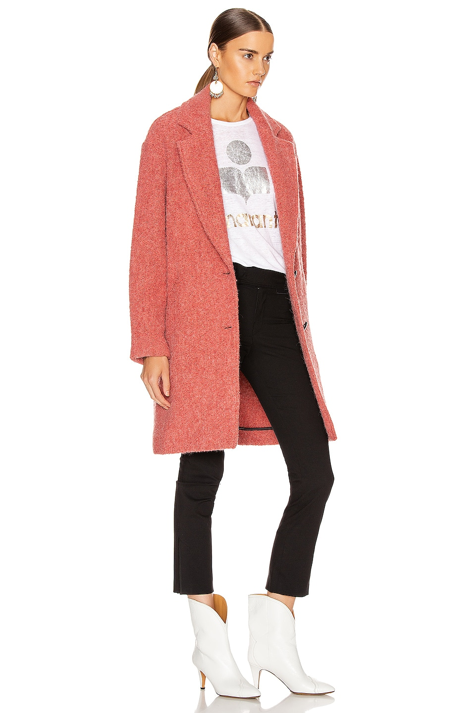 Image 3 of Isabel Marant Etoile Dante Coat in Pink