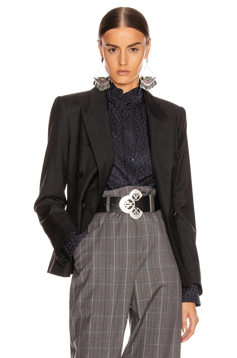 Image 1 of Isabel Marant Etoile Visby Blazer in Anthracite