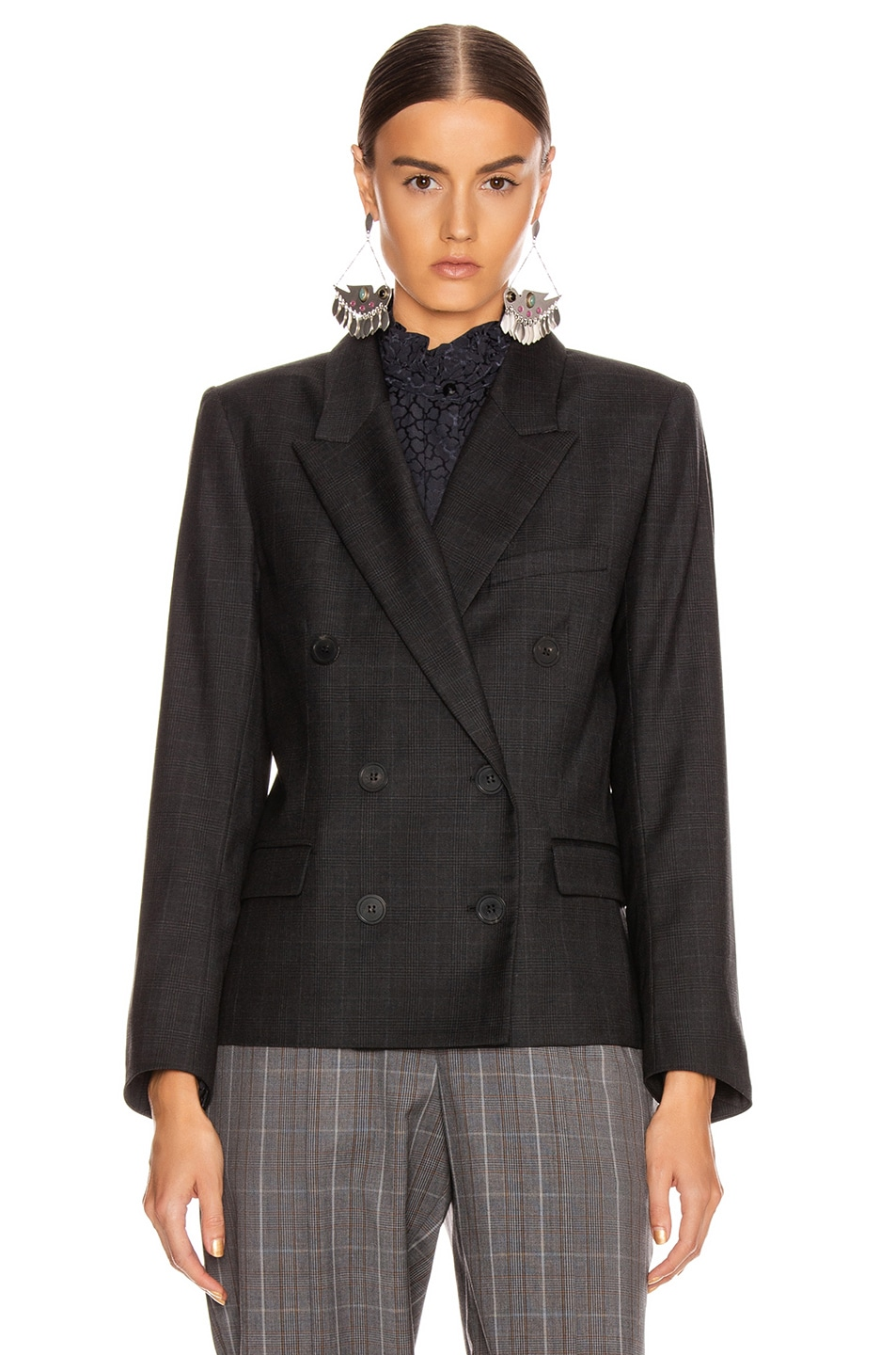 Image 3 of Isabel Marant Etoile Visby Blazer in Anthracite