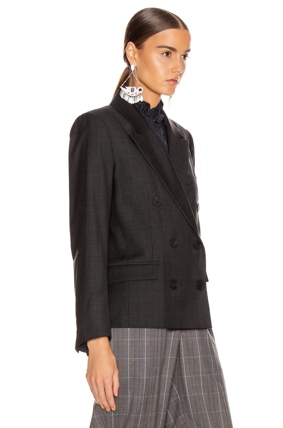 Image 4 of Isabel Marant Etoile Visby Blazer in Anthracite