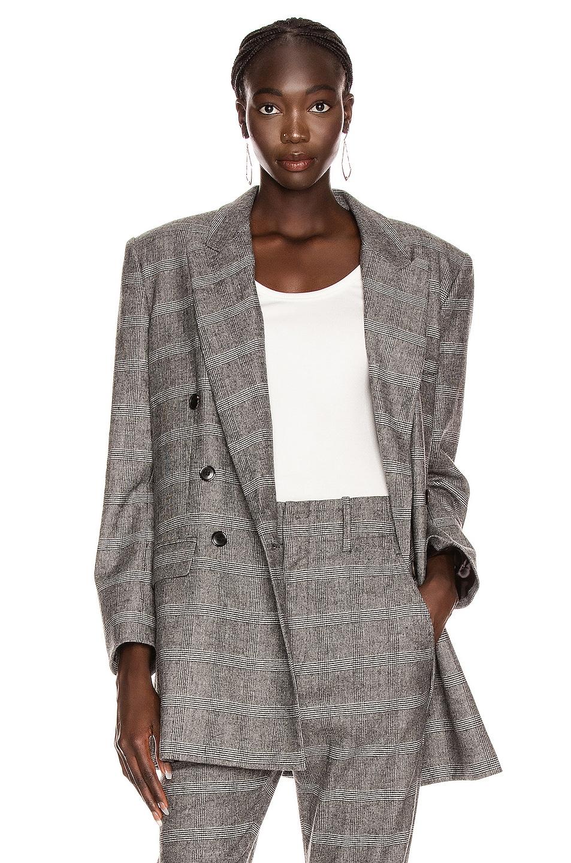 Image 1 of Isabel Marant Etoile Eagan Jacket in Black & Ecru