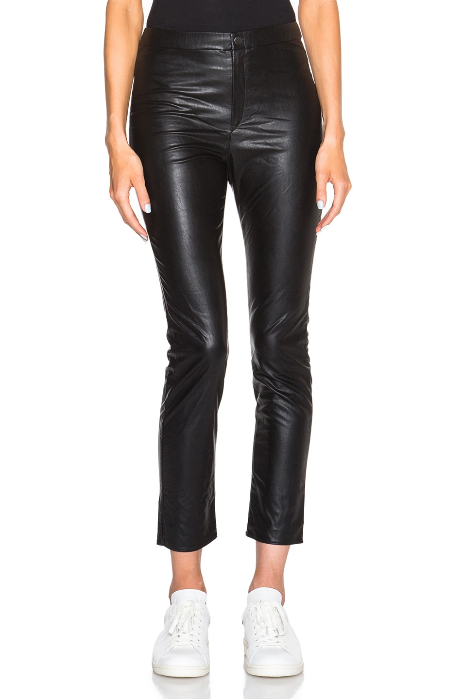 Image 1 of Isabel Marant Etoile Jeffrey Eco Leather Pants in Black