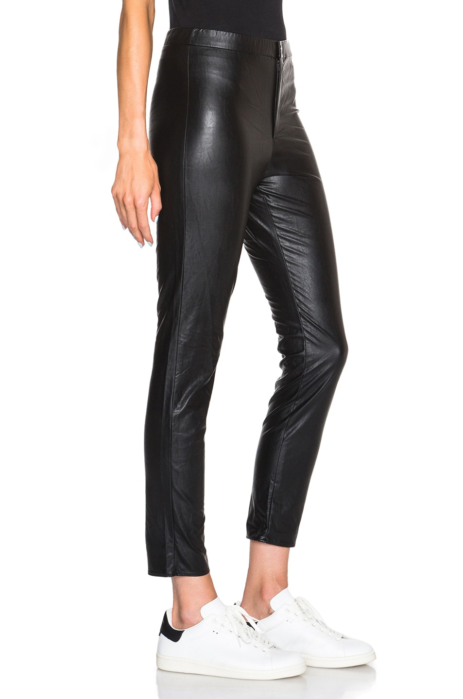 Image 3 of Isabel Marant Etoile Jeffrey Eco Leather Pants in Black