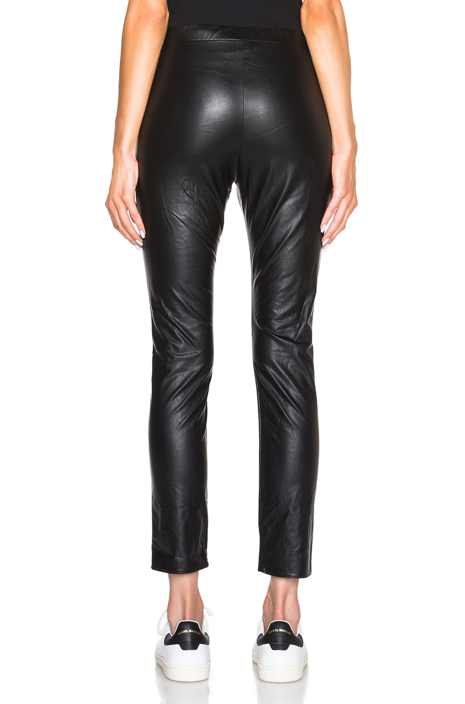Image 4 of Isabel Marant Etoile Jeffrey Eco Leather Pants in Black
