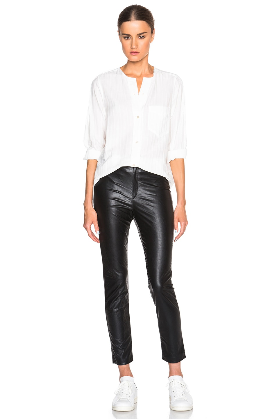 Image 5 of Isabel Marant Etoile Jeffrey Eco Leather Pants in Black