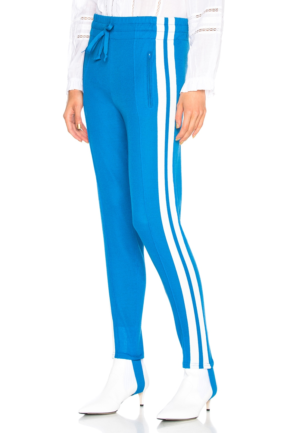 Image 1 of Isabel Marant Etoile Doriann Sporty Knit Track Pants in Electric Blue