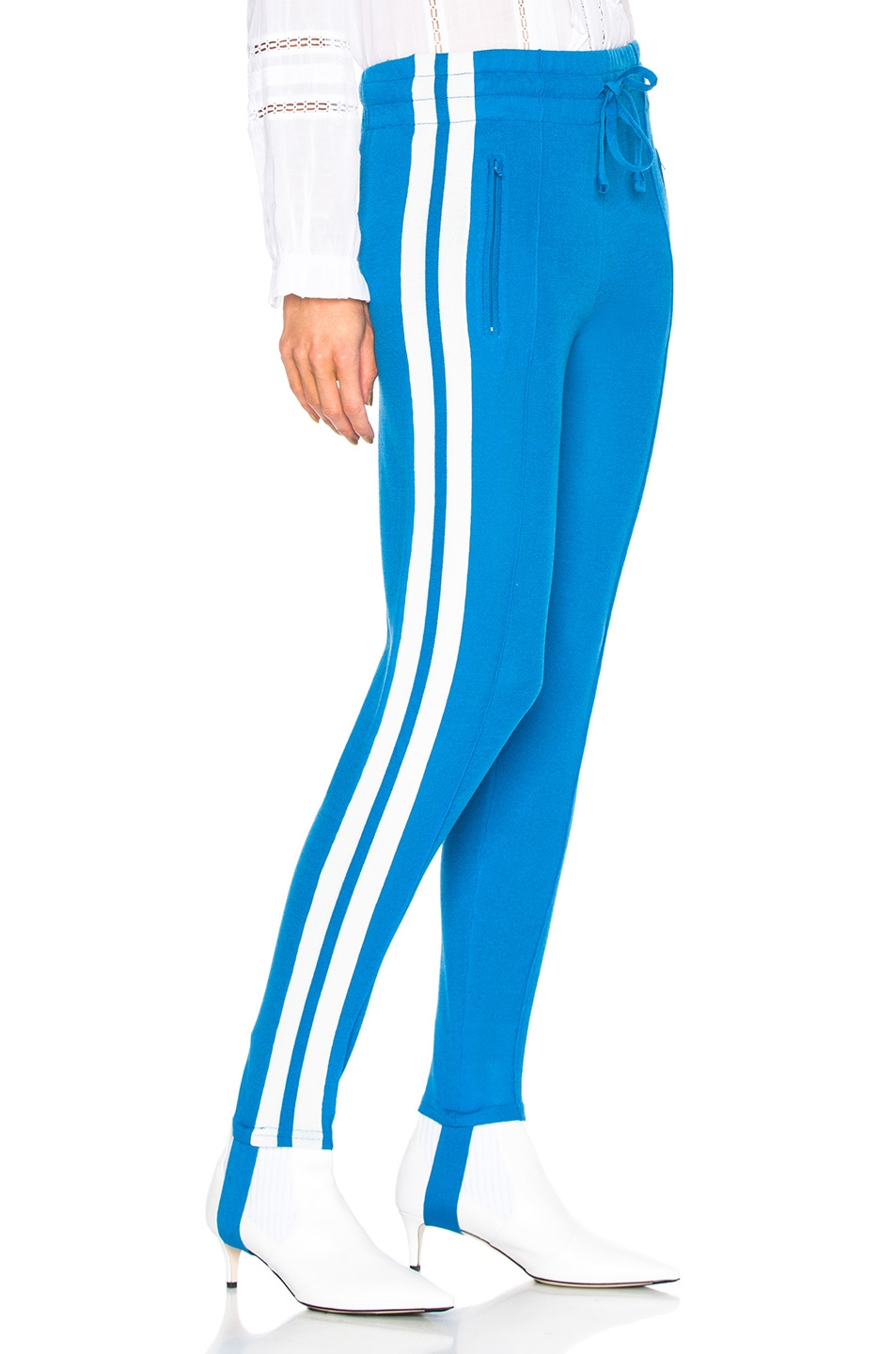 Image 2 of Isabel Marant Etoile Doriann Sporty Knit Track Pants in Electric Blue