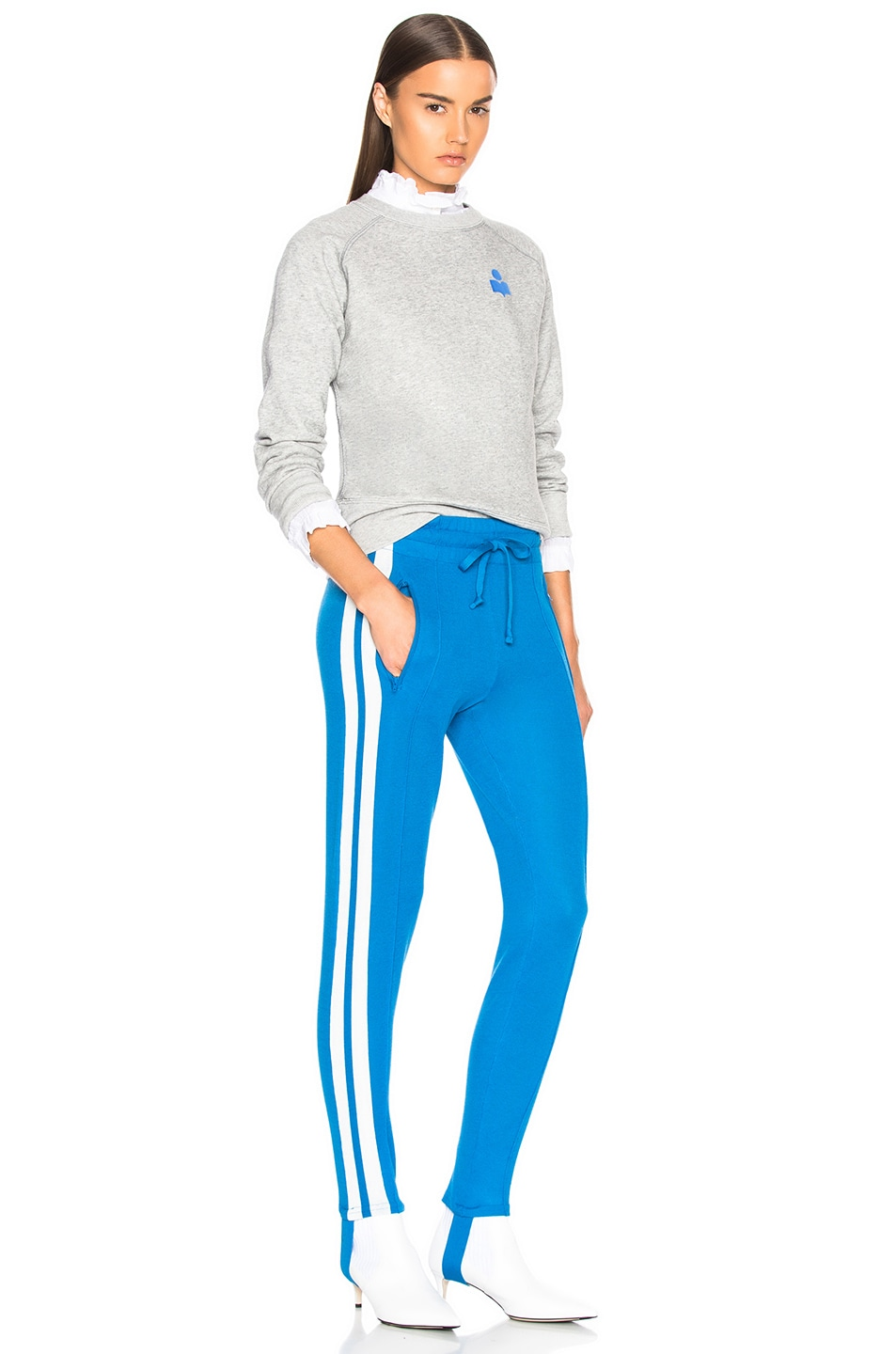 Image 4 of Isabel Marant Etoile Doriann Sporty Knit Track Pants in Electric Blue