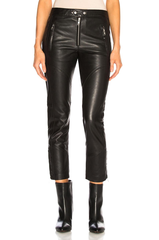 Image 1 of Isabel Marant Etoile Leather Aya Pant in Black
